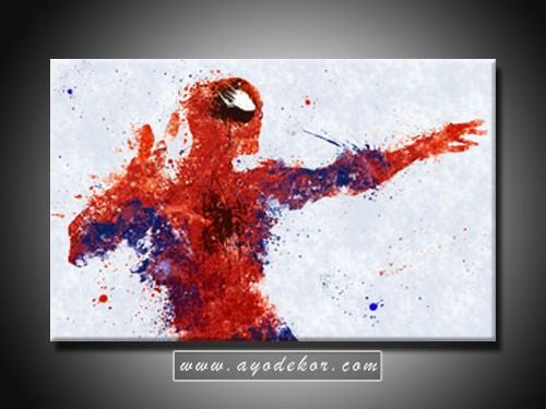Lukisan Spiderman Superhero Canvas Art