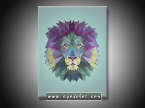 Jual Wall Art LION - Singa Pop Art