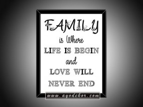 Jual Wall Art Hiasan Dinding Quotes Family