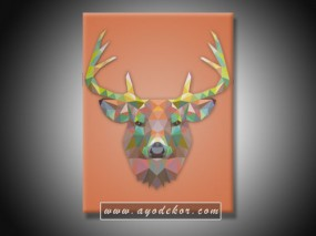 Jual Wall Art JAVAN DEER  - Javan Rusa Pop Art