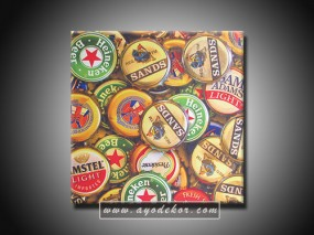 Jual Wall Art Cheers Beer Vinyl