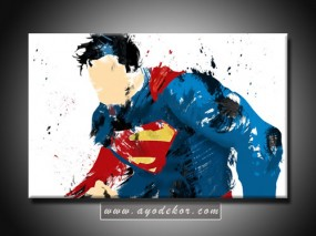 Jual Wall Art Superman Canvas Wall Art