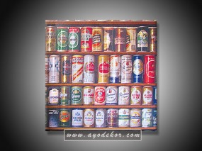 Jual Wall Art Canned Beer Vinyl