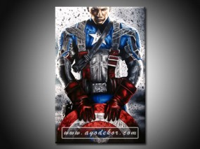 Jual Wall Art CAPTAIN AMERICA Canvas Wall Art
